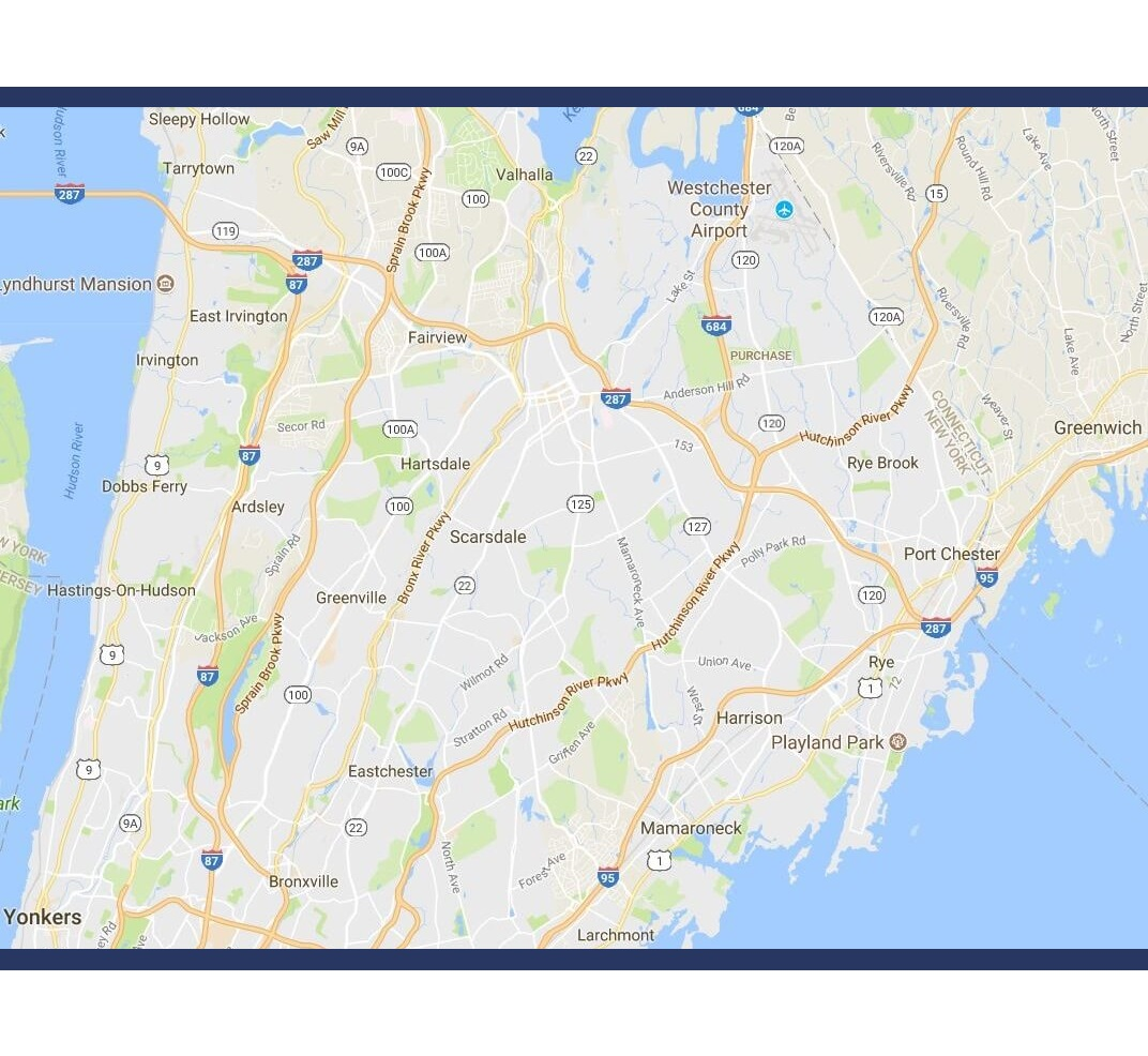 Admiral Real Estate - Westchester Fairfield Retail Real Estate - Map