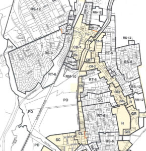 Conventional Zoning Map Close-Up Mount Kisco NY
